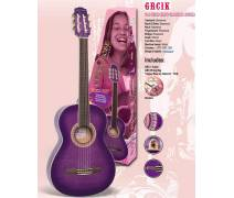 Gypsy Rose Klasik Gitar Set-Mor-(Gigbag Stickers Dvd): GRC1KCPP