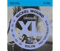 TEL-ELEKTRO GİTAR TELİ SET 0.11-0.52 MEDIUM TOP/HEAVY BOTTOM NICKEL WOUND: EXL116