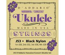 TEL- SET HAWAII UKULELE BLACK NYLON CONCERT: J53