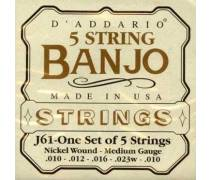TEL- Banjo Tel Set Nickel Medium Tension: J61