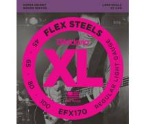 TEL-Bas Gitar Teli Set 0.45-100 Flexsteels (Slap) Uzun Ömürlü Regular Light: EFX170