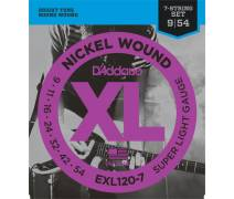 TEL-ELEKTRO GİTAR TELİ SET (7 TELLİ GİTAR İÇİN) 0.09-0.54 SUPER LIGHT NICKEL WOUND : EXL120-7