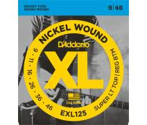 TEL-ELEKTRO GİTAR TELİ SET 0.09-0.46 SUPER LIGHT TOP/REGULAR BOTTOM NICKEL WOUND: EXL125 XL