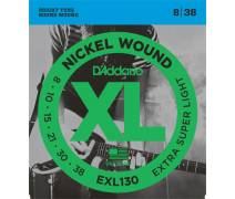TEL-ELEKTRO GİTAR TELİ SET 0.08-0.38 EXTRA SUPER LIGHT NICKEL WOUND: EXL130 XL