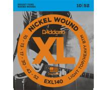 TEL-ELEKTRO GİTAR TELİ SET 0.10-0.52 LIGHT TOP/HEAVY BOTTOM NICKEL WOUND: EXL140 XL