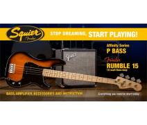 Stop Dreaming Start Playing! Set: Affinity Precision Bass Fender Rumble 15 BSB