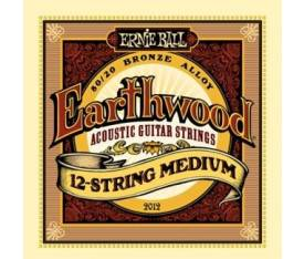 Ernie Ball P02012 Earthwood Medium 80/20 Bronze 12 Telli Akustik Gitar Teli