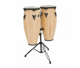 "LATIN PERCUSSION LP646NY-AW 10'' & 11"" Natural Ahşap Conga Seti"