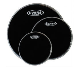 Evans ETPCHR-R 3'lü Black Chrome Rock Clear Tom Deri Seti