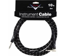 Fender 10' CS Perf. Cable BLK TWD L Uç