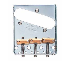 Fender Bridge Assembly 3-Saddle Tele Chrome