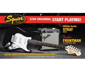 Stop Dreaming Start Playing! Set: Affinity Strat Fender Frontman 10G Amp Black