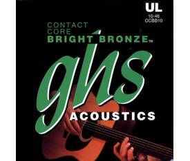 GHS Strings Contact Core 10-46 Extra Light - Akustik Gitar Teli