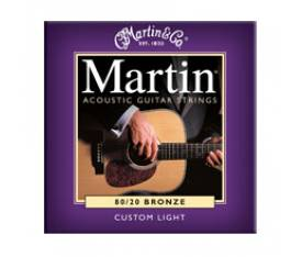 Martin & Co M175PK3 - 80/20 Bronze (Custom Light) 11-52 Akustik Gitar Teli - 3 Set