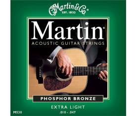 Martin & Co 41M530 - Phosphor Bronze (10-47) Extra Light - Akustik Gitar Teli