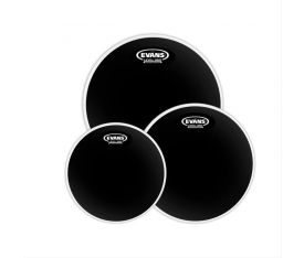 "Evans Deri Seti 10""+12""+14"" Black Chrome Tom Clear Fusion Kit Çift Kat (14,5 Mil)"