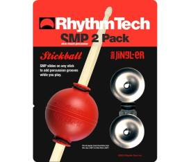 Rhythm Tech RTSMP2 SMP 2 Pack Stickball + Stick Jingl-er