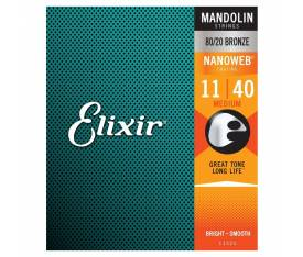 Elixir 80/20 Bronze With Nanoweb Coating Mandolin Teli