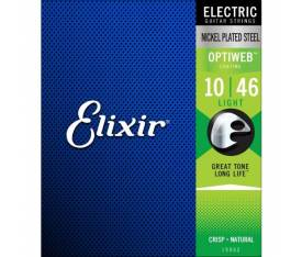 Elixir Optiweb Light  Elektro Gitar Teli (10-46)