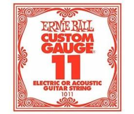 ERNIEBALL P01011 .011 PLAIN STEEL Electric/ Acoust