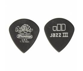Jim Dunlop Tortex Pitch Black Jazz III 12li Pena Seti (1.14mm)