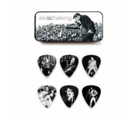 Jim Dunlop Elvis The King Collection 6lı Pena Seti (Medium)