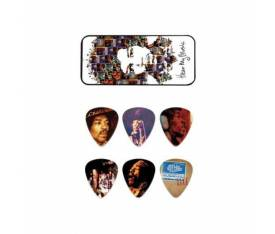 Jim Dunlop Jimi Hendrix Hear My Music 6lı Pena Seti (Medium)