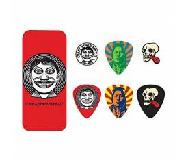 Jim Dunlop JVHPT01M John Van Hamersveld Johnny Face 6lı Paket Pena (Medium)