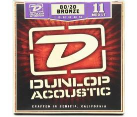 Jim Dunlop Medium-Light 80/20 Bronze Akustik Gitar Teli (11-52)