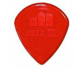 Jim Dunlop Jazz III Nylon Red Pena