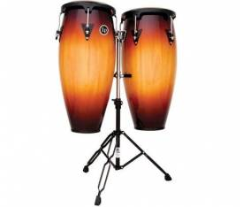 "LATIN PERCUSSION LP646NY-VSB City Serisi 10'' & 11""  Sehpalı Conga Set"