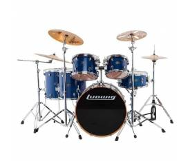 Ludwig Evolution Maple LCEM622XBL Trans Blue Shell Set Bateri (10-12-14-14-16-22)