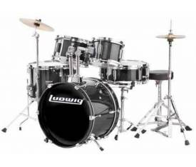 Ludwig LJR1061 Junior Acccent Black Akustik Davul Seti  (5 PC)