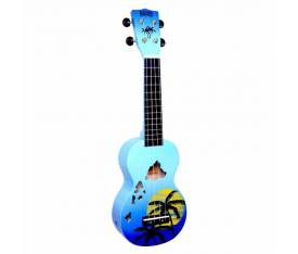 Mahalo Soprano Ukulele (Hawaii Blue Burst)