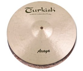 "Turkish Cymbals Araya 13"" Hihat Flat Hole"