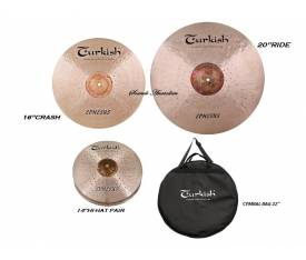 "Turkish Cymbals Ephesus Set (14""Hihat,16""Crash,20""Ride )"