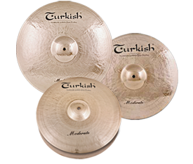 "Turkish Cymbals Moderate Set  ( 14""Hihat, 16""Crash, 20""Ride + Bag)"