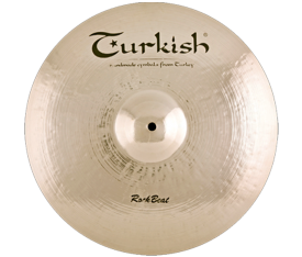 "Turkish Cymbals Rock Beat 16"" Crash Thin"